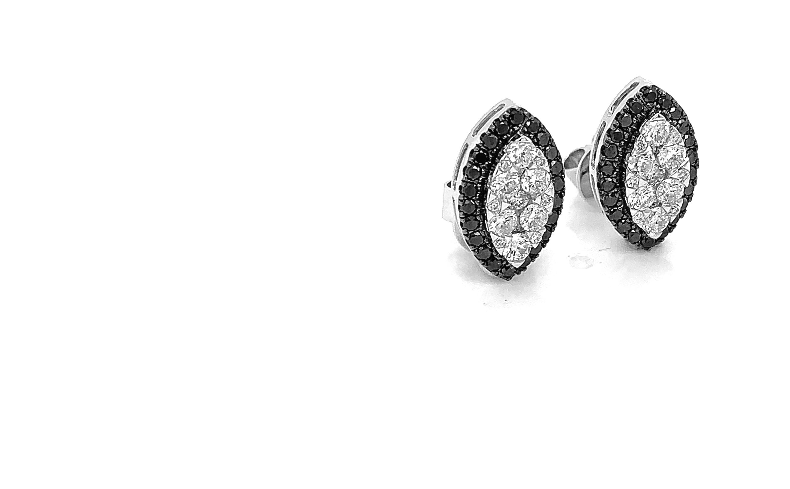 Black & White Diamond Earrings