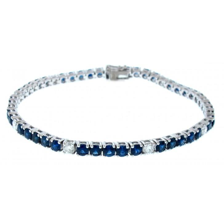18kt White Gold Shire Tennis Bracelet