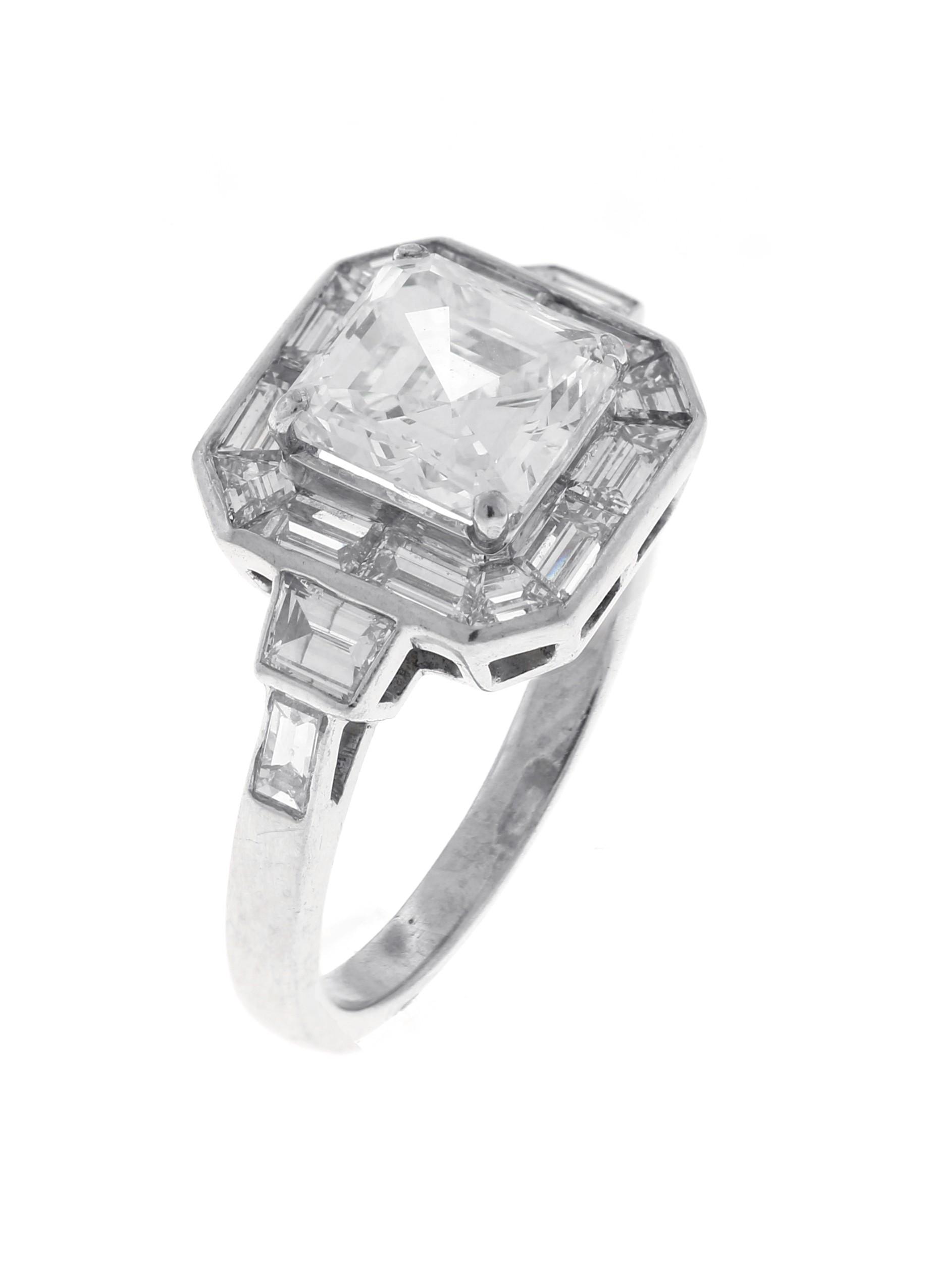 Platinum GIA Certified Diamond Ring