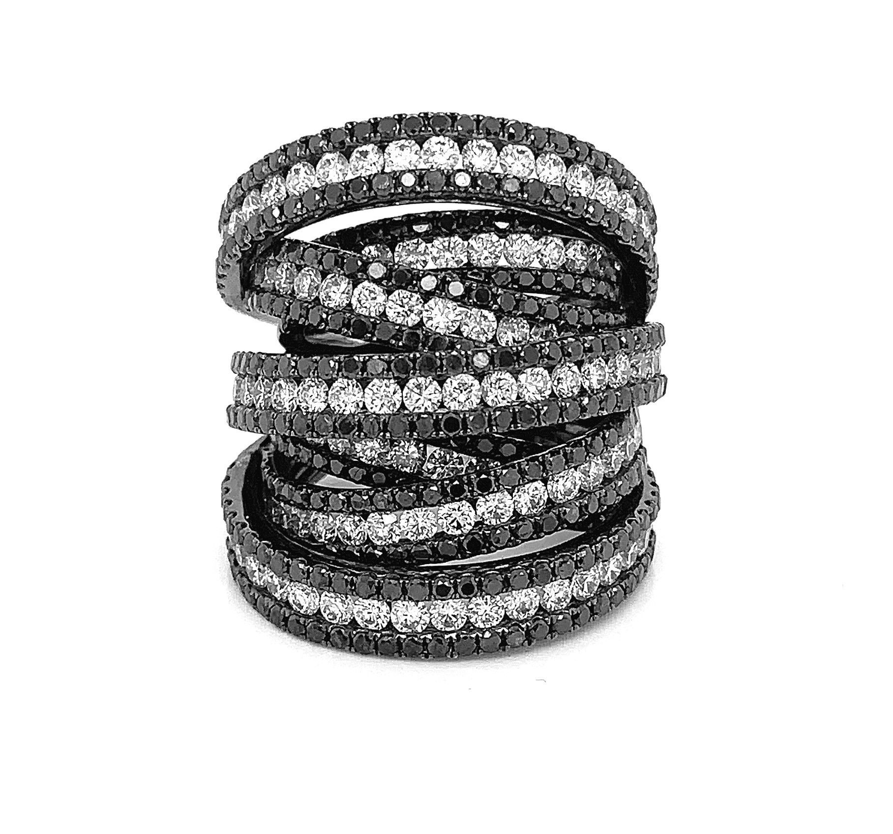18kt Black Gold Diamond Ring