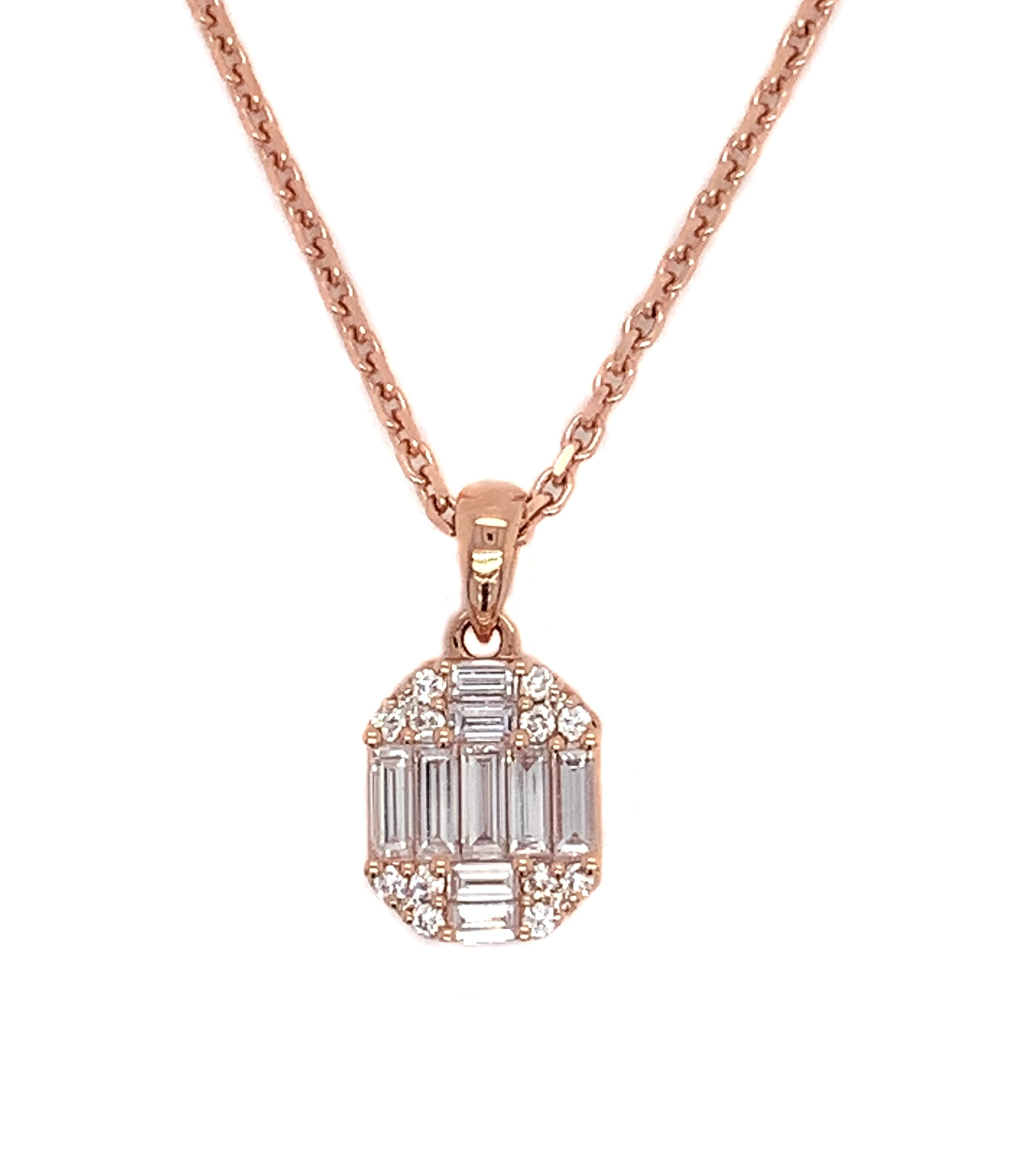 18kt Rose Gold Diamond Pendant