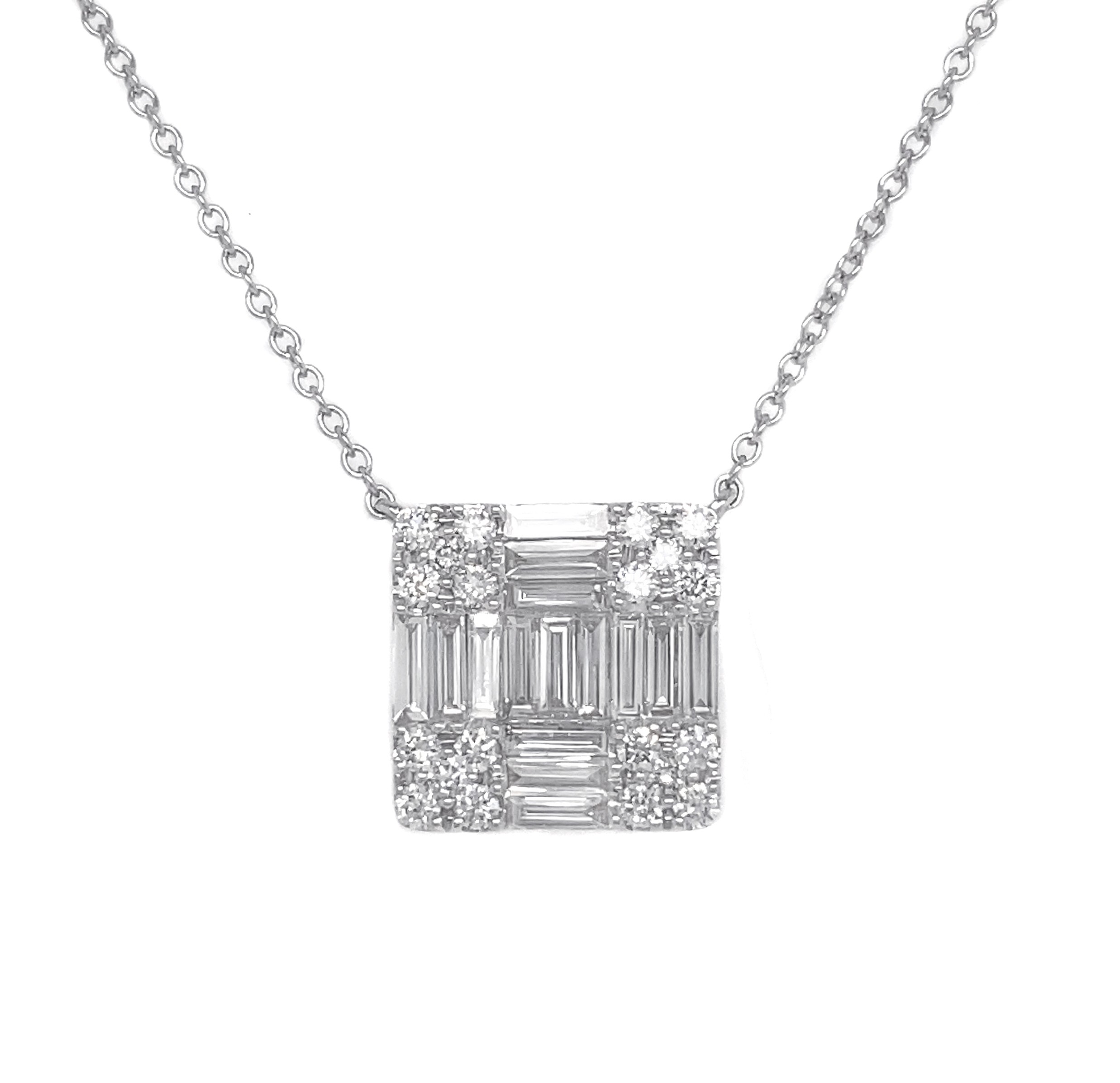 18kt White Gold Diamond Pendant