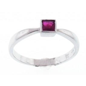 14kt White Gold Ruby Ring