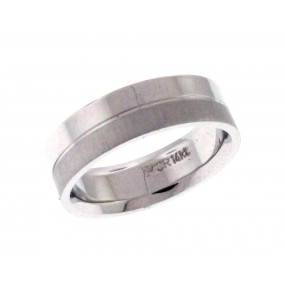 14kt White Gold Wedding Band