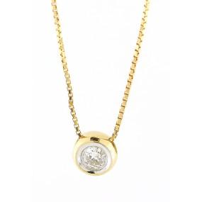 14kt Yellow Gold Diamond Pendant