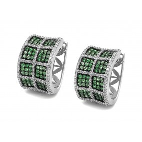 18kt White Gold Tsavorite Earrings