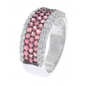 18kt White Gold Pink Sapphire Ring