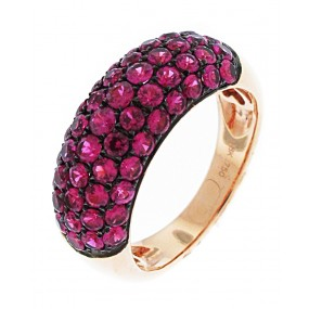 18kt rose Gold Sapphire Band