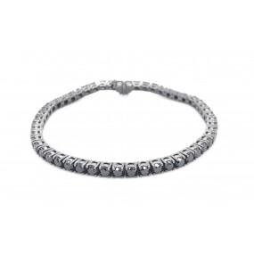 18kt Black Gold And Black Diamond Bracelet