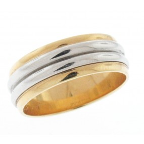 Platinum And 18kt Yellow Gold Wedding Band