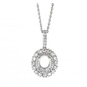 14kt White Gold Diamond Pendant Mounting