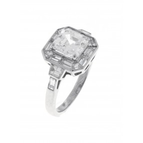 Platinum GIA Certified Diamond Ring