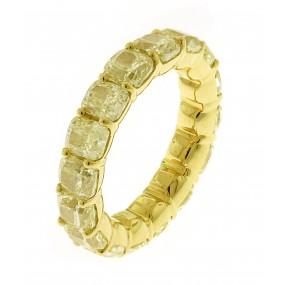 18kt Yellow Gold Yellow Diamond Eternity Band