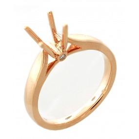 18kt Rose Gold Diamond Semi Mount