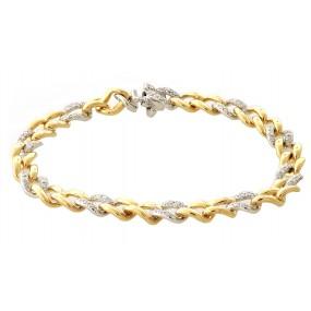 18kt White And Yellow Gold Diamond Link Bracelet