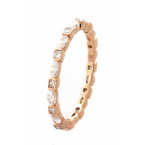 18kt Rose Gold Diamond Eternity Band