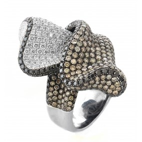 18kt White and Black Gold Diamond Ring
