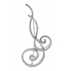 14kt White Gold Diamond Pendant/Pin