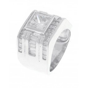 Platinum Diamond Men Ring