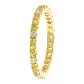 18kt Yellow Gold Diamond And Sapphire Eternity Band