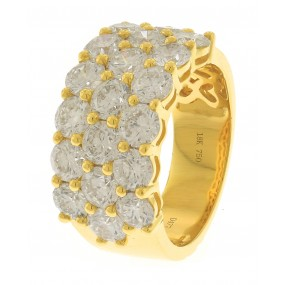 18kt Yellow Gold Diamond Half Way Band
