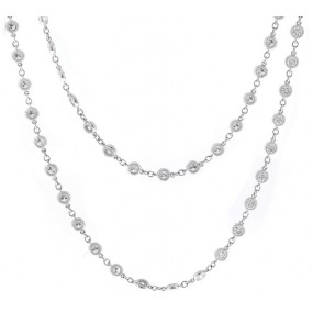 18kt white gold diamond-by-the-yard