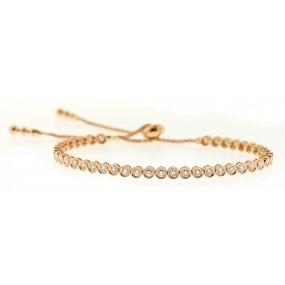 18kt Rose Gold Diamond Bracelet