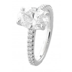 18kt White Gold GIA Certified Diamond Engagement Ring