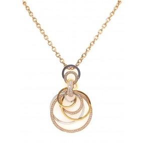 18kt Tri Color Gold Diamond Necklace