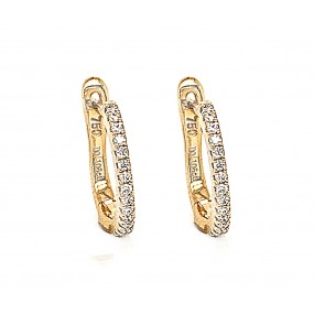 18kt Yellow Gold Diamond Earrings
