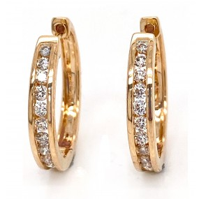 14kt Yellow Gold Diamond Earrings