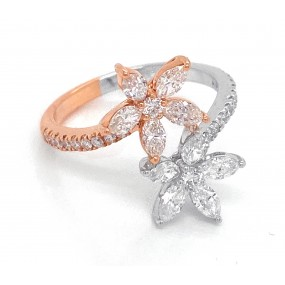 18kt White and Rose Gold Diamond Ring