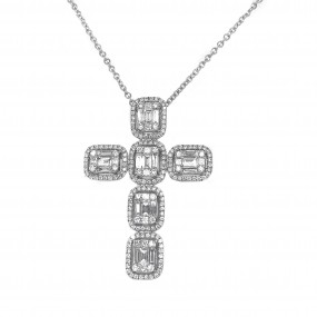 18kt White Gold Diamond Pendant