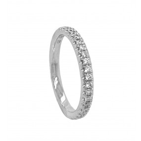 18kt White Gold Diamond Band