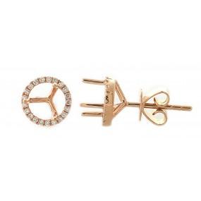 18kt Rose Gold Diamond Earrings Jackets