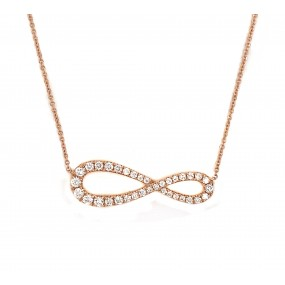 18kt Rose Gold Diamond Pendant
