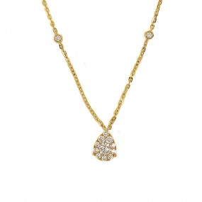 18kt Yellow Gold Diamond Pendant