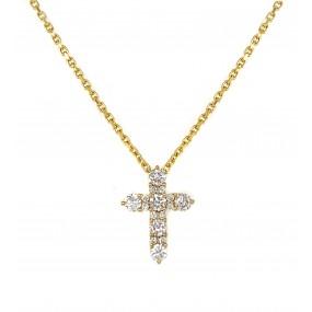 18kt Yellow Gold Diamond Pendant
