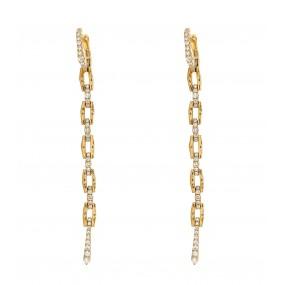 18kt Yellow Gold Diamond Earrings