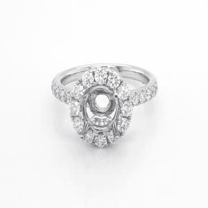 18kt White Gold And Diamond Semi-mount