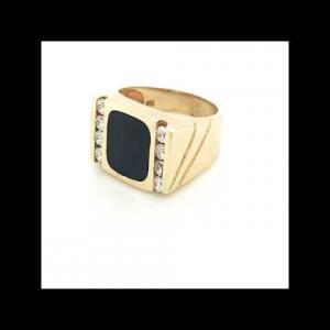 14kt Yellow Gold Diamond Men`s Ring