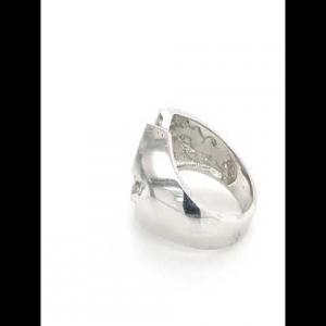14kt White Gold Diamond Men`s Ring